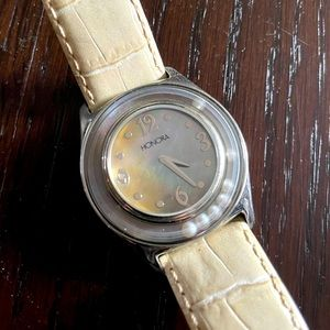 Vintage Honora Mother of Pearl Woman's Watch